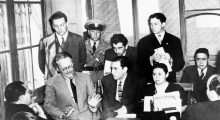 MEXICO INVESTIGATES THE BOMBING AT LEON TROTSKY'S VILLA: Mexico City, 7-5-1940.- The former red leader Leon Trotsky as he appeared in court here to answer questions about the shooting which resulted in the death of one of his bodyguards, when bandits allegedly made an attempt to assassinate him and his wife. EFE/ARCHIVO VIDAL/NO ARCHIVAR/SOLO USO EDITORIAL.