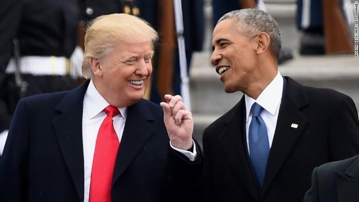 April 2017 Trump & Obama