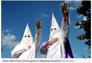 Sept. 2017 Klan in Gettysburg