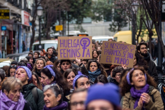 April 2018 Women Spain March 8