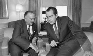 J. Edgar Hoover Conferring with President Elect Richard Nixon