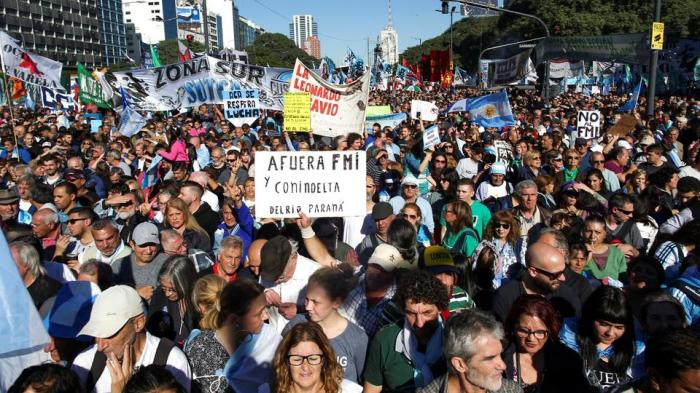 June 2018 Argentine IMF protest (Reuters)
