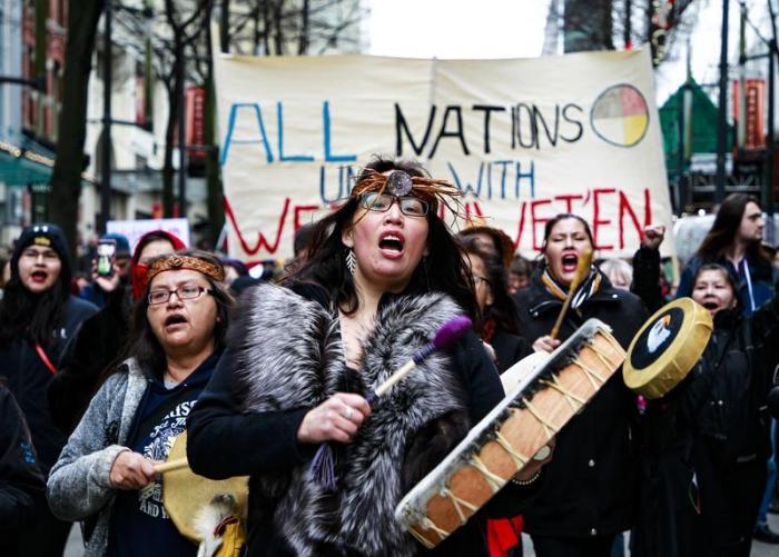 Feb. 2019 Gas protest (Elizabeth Wang : The Ubyssey)