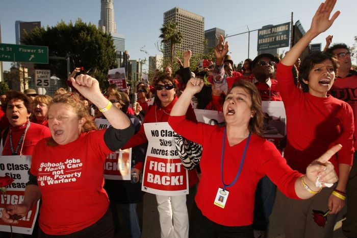 L.A. School Board Debates Staff Reductions