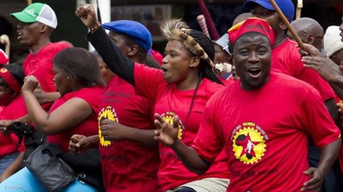 Aug. 2019 NUMSA strike 2014 (Reuters)