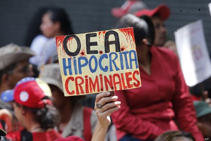 Oct. 2019 OAS Venezuela sign
